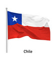 flag republic chile vector image vector image