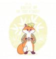 fox travel vector image vector image