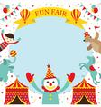 Fun Fair Carnival Circus Frame vector image vector image