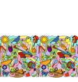 garden colorful seamless border vector image vector image