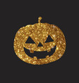 golden glitter silhouette halloween holiday vector image