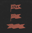 hand drawn vintage flags collection retro roughen vector image vector image