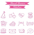 Icon of valentine collection art vector image vector image