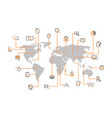 internet management map vector image vector image