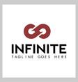 letter g infinite logo vector image vector image