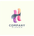 letter h logo vector image vector image