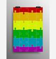 lgbt pride flag rainbow symbol vector image vector image