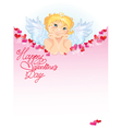 light frame angel 380 vector image vector image