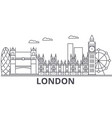London architecture line skyline vector image