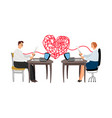 love affair at work vector image vector image