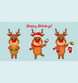 merry christmas and a happy new year 2020 three vector image vector image