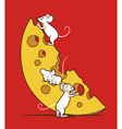 Mice And Cheese vector image vector image