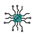 microchip technology symbol vector image vector image