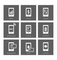 Mobile payment icons vector image vector image