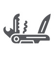 multi tool glyph icon camping and multifunction vector image vector image