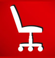 office chair con vector image