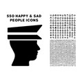 officer head icon with bonus vector image vector image