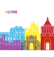 Palermo skyline pop vector image vector image
