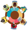 People meeting on the round table vector image vector image