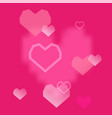 pink hearts background valentines day romantic vector image vector image