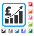 pound sales growth chart framed icon vector image vector image