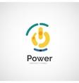 Power button logo design vector image vector image
