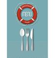 Retro Menu design for seafood restaurant variation vector image vector image