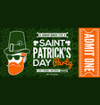 saint patricks day party celebration invitation vector image