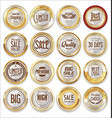 sale retro vintage golden badges and labels 06 vector image vector image