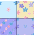 Seamless forget-me-not pattern set vector image