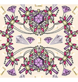 Seamless jewelery necklace kaleidoscope pattern vector image