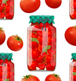 seamless texture with preserve tomato vector image