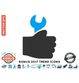 Service Hand Flat Icon With 2017 Bonus Trend vector image vector image
