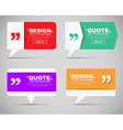 Set of banners with a quote bubble vector image vector image