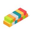 Set of Cargo Boxes Isometric 3d Container Delivery vector image