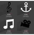 Set of fashionable icons trending symbols Flat vector image