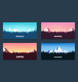 set of nature landscape backgrounds with vector image vector image