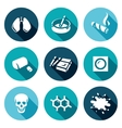 Set of Smoking and Cancer Icons Lungs vector image