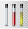 set transparent glass chemical laboratory test vector image vector image