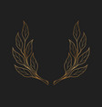simple golden hand drawn laurel wreath icon on vector image vector image