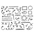 sketch arrows and frames hand drawn arrow doodle vector image vector image