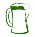 sketch of a beer glass with foam vector image