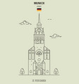 st peter church in munich vector image vector image