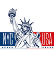statue of liberty nyc usa symbol vector image vector image