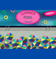 stylized as a photo from drone summer pool vector image