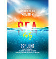 summer sea party poster vector image vector image