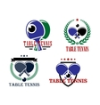 Table Tennis emblems or badges vector image