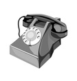 Telephone Retro Style vector image vector image