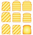 toasted bread slices vector image