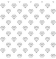 unique digital diamonds seamless pattern with vector image vector image